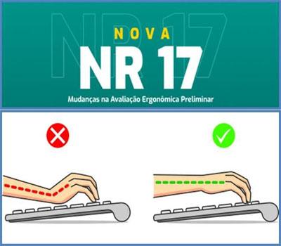Norma regulamentadora NR17 atualizada Avaliação de riscos ergonômicos